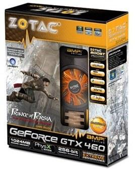 ZOTAC GeForce GTX 460 AMP! Edition в упаковке
