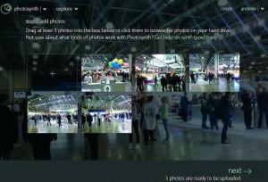 При загрузке снимков Photosynth сам исключит неподходящие кадры.