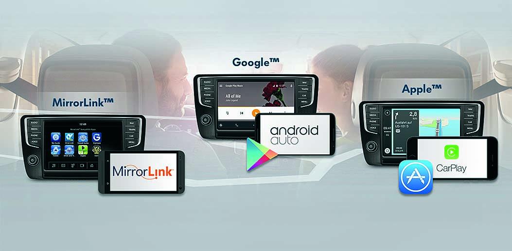 MirrorLink, Android Auto, Apple CarPlay