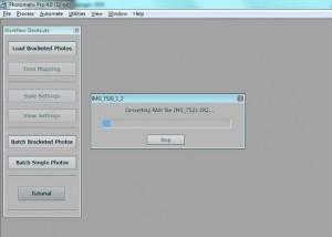 После нажатия «ОК» начнется предварительная обработка снимков