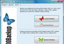 MOBackup. Перенос данных из Outlook