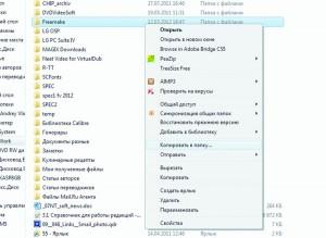 Добавив в реестр Windows дополнительные ключи, можно получить в контекстном меню удобные команды для копирования файлов и папок