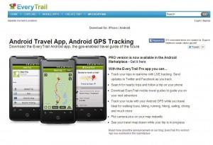 EveryTrail — онлайн-хранилище треков