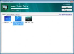 В программе Logon Screen Rotator есть возможность заменить изображение стартового экрана