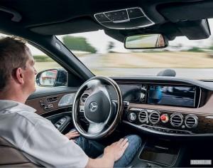 Полуавтономное движение Mercedes S