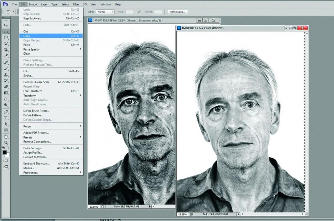 Создаем черно-белый портрет за 7 шагов