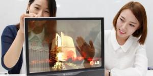Прозрачный дисплей LG