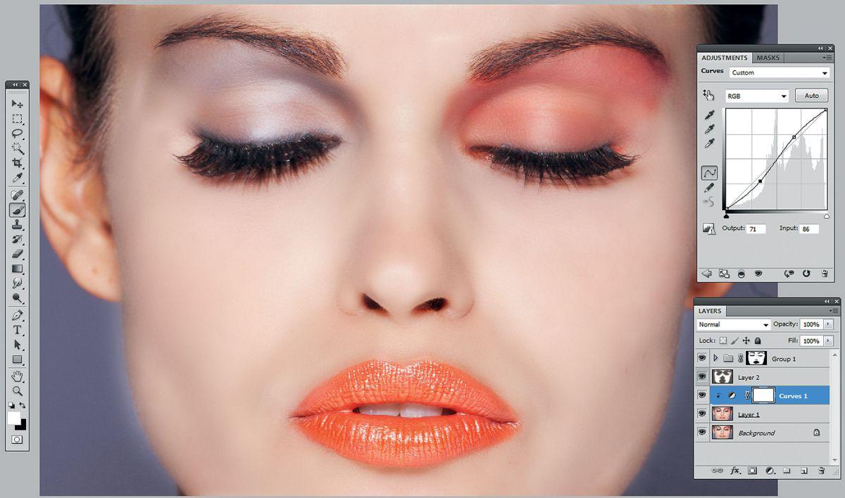 Фотомонтаж на макияж