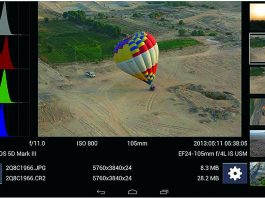 DSLR Controller для Canon дает возможность управлять съемкой через USB-кабель и просматривать фото на экране смартфона