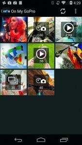 С помощью GoPro App получится управлять камерой через Wi-Fi-канал, выполнять визирование и съемку фото и видео.