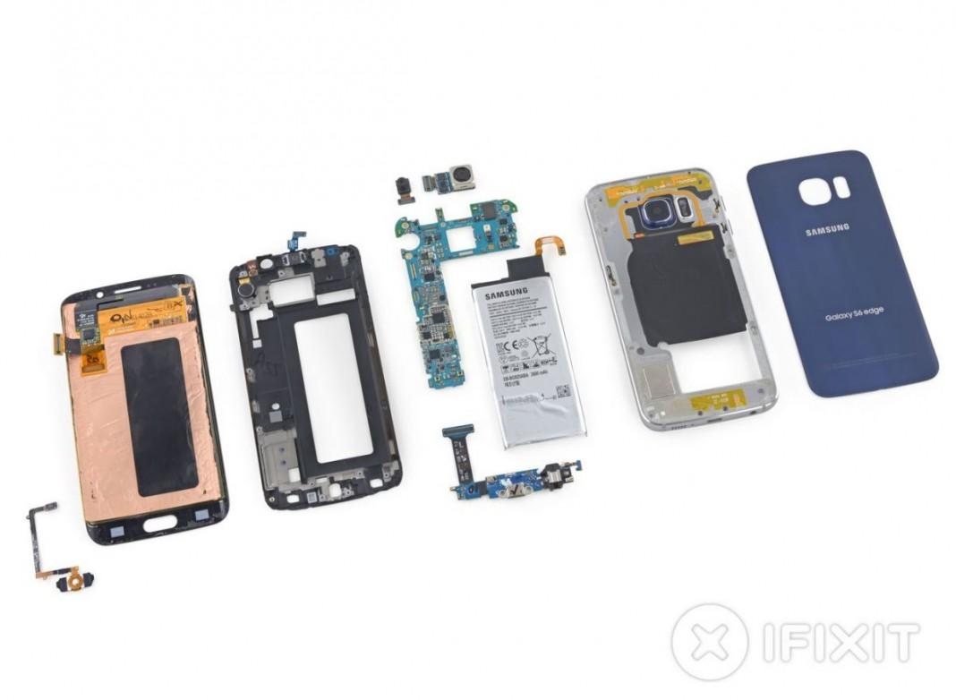 Ремонт Samsung Galaxy S6 Edge весьма затруднителен
