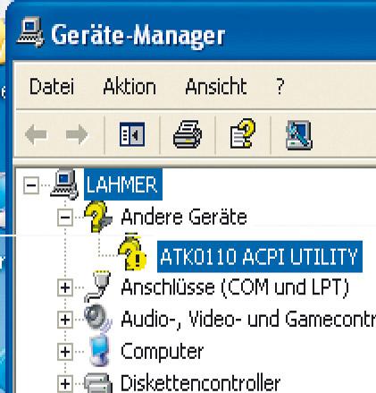 Утилита для настройкиматеринских плат ASUS требует специальный драйвер ATK0110 ACPI Utility