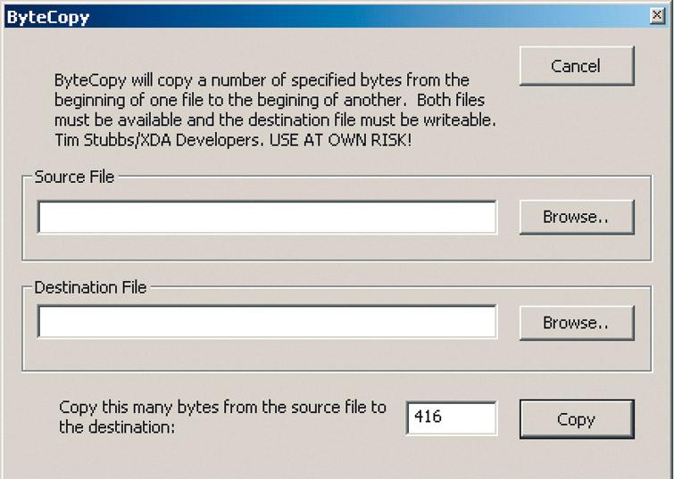 Модификация прошивки.При помощи утилиты ByteCopy вы можете скопировать 416байт старой программы в новую прошивку
