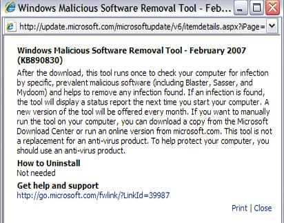 Поддержка от Microsoft.В нижней части всплывающего окна вы найдете ссылку на технический сайт Microsoft
