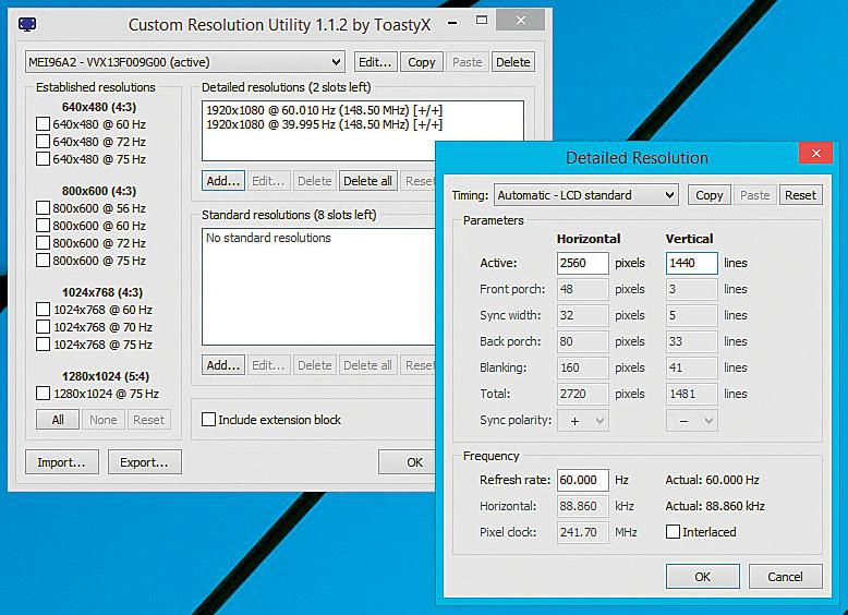 Custom Resolution Utility