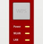 Кнопка WPS на AVM FritzWLAN 1750E