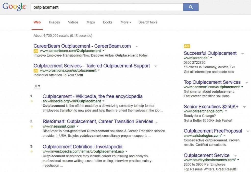 Outplacement: карьера поискового слова