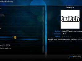 Twitch.tv on XBMC