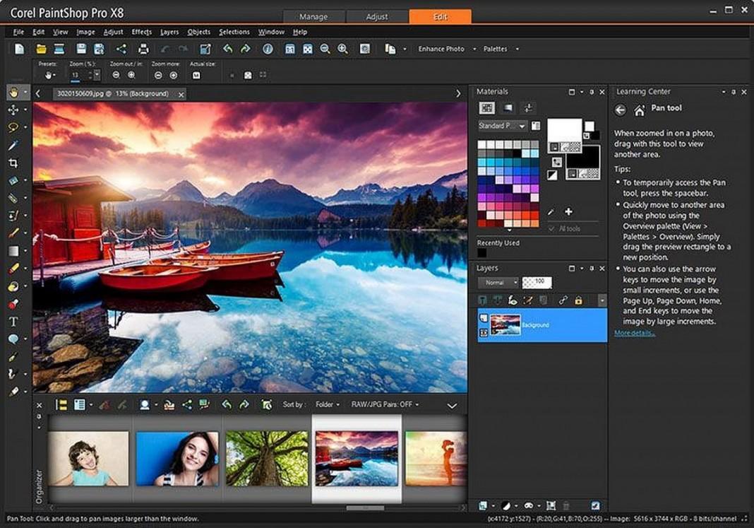 Графический редактор Corel PaintShop Pro отпраздновал 25-летие выходом версии X8
