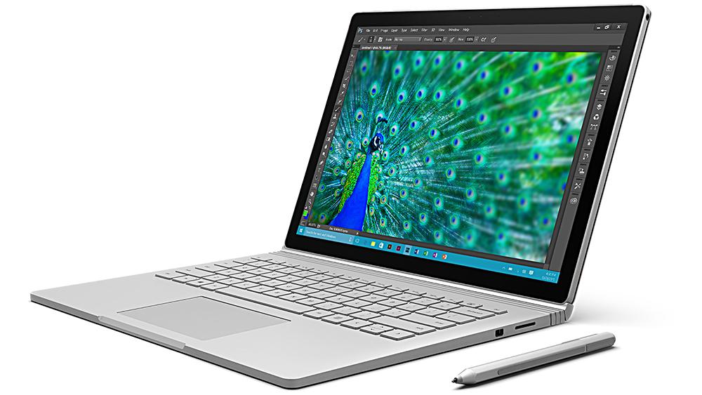 Surface Book: гибридный ноутбук с сенсорным экраном.