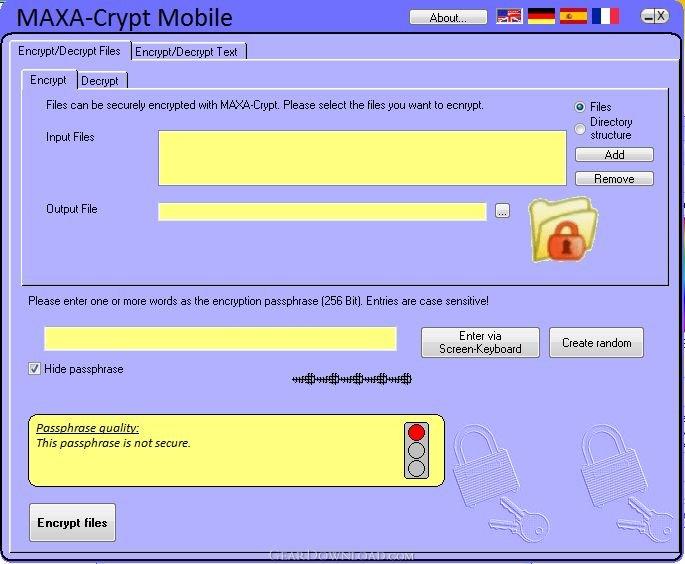 wie Maxa Crypt Portable