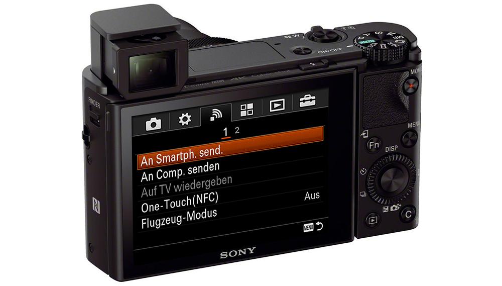 Sony Cyber-shot DSC-RX100 IV: Wi-Fi и NFC предназначены для беспроводной передачи данных и дистанционного управления камерой через смартфон.