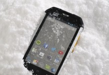 winter smartphone