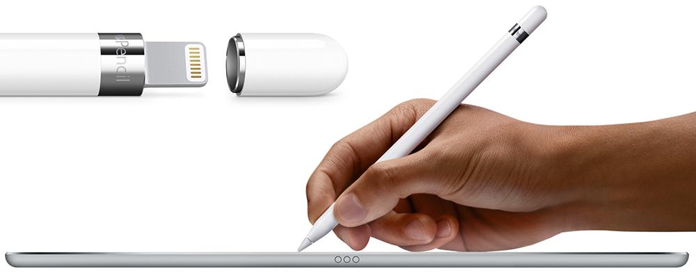 Apple iPad Pro: Можно работать со стилусом.
