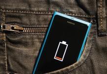 Разрядившийся смартфон