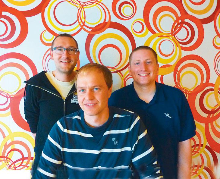 Свен Науманн, Ули Лутц и Йоханнес Мелем из команды Google Search Quality Team в Дублине