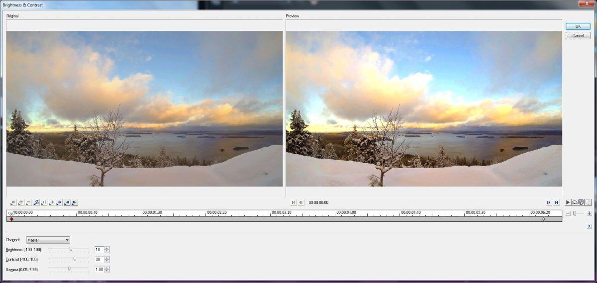 К любому клипу вы можете применить готовый фильтр, который позволит улучшить картинку. Например, можно провести коррекцию яркости на слишком светлых моментах, или повысить контрастность в темных