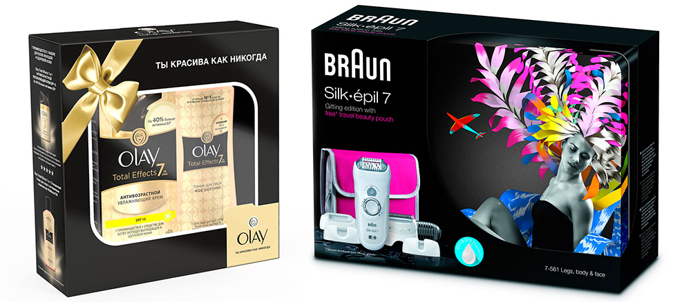 Olay Total Effects 7 в 1 и Braun SE7-561
