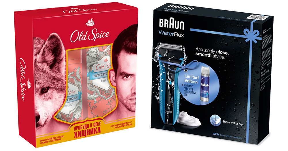 Wolfthorn Old Spice и Braun Water Flex 2S