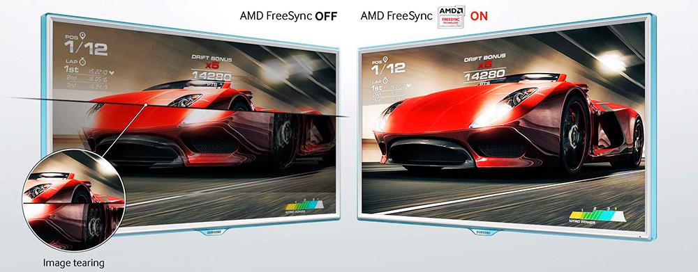 Технологии AMD FreeSync и NVIDIA G-Sync позволяют синхронизировать частоту обновления монитора с частотой обработки кадров видеокартой, чтобы избежать артефактов вроде тиринга.