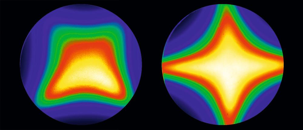 Контрастность при перпендикулярном положении относительно середины экрана и отклонении от него (в сторону краев изображения). На TN-матрицах (слева) она явно меняется, на IPS (справа) — сохраняется.