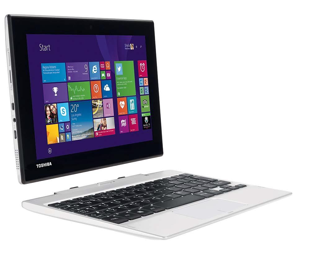 Планшеты под управлением Windows, например, Acer Switch или Toshiba Click Mini, при подключении клавиатуры из комплекта превращаются в ноутбуки