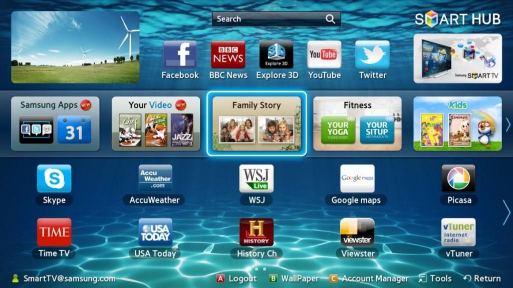 Среди предустановленных на Smart TV приложений, как правило уже имеются программы для просмотра отдельных каналов, так и IPTV