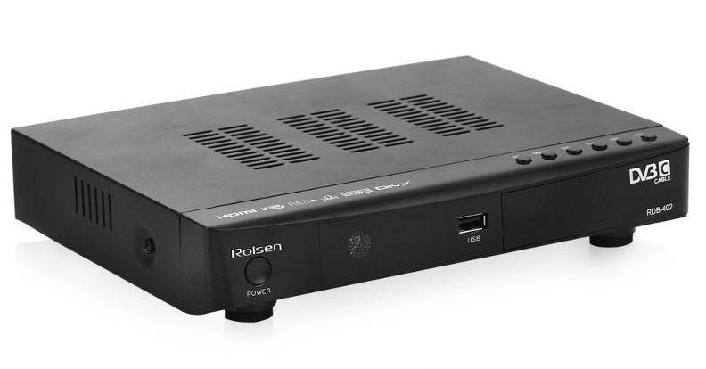 Для приема кабельного ТВ понадобится декодер, под- держивающий стандарт DVB-C