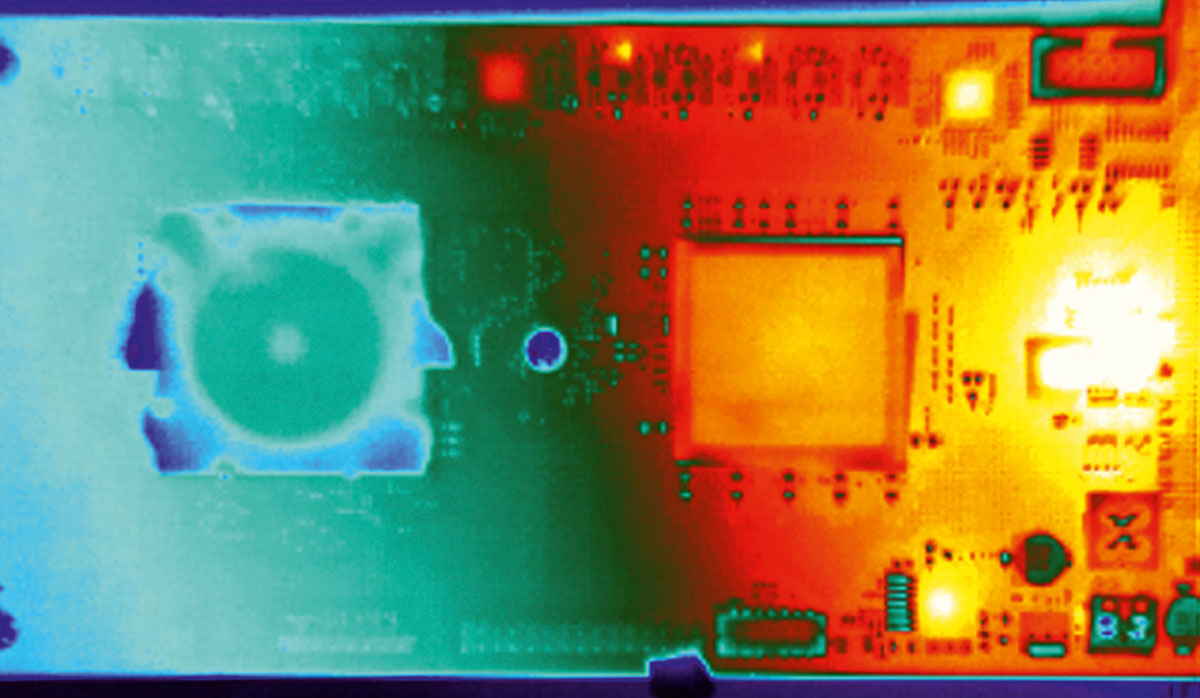 Термограмма нейрочипа IBM TrueNorth