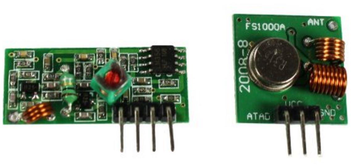 433 МГц: дешевые приемник и передатчик