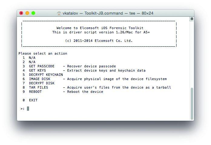 Коды доступа к iOS. Дорогие программы, такие как Forensic Toolkit от Elcomsoft, могут взломать защиту iPhones методом полного перебора