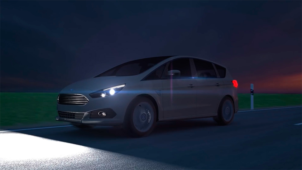 Ford high-beam headlights