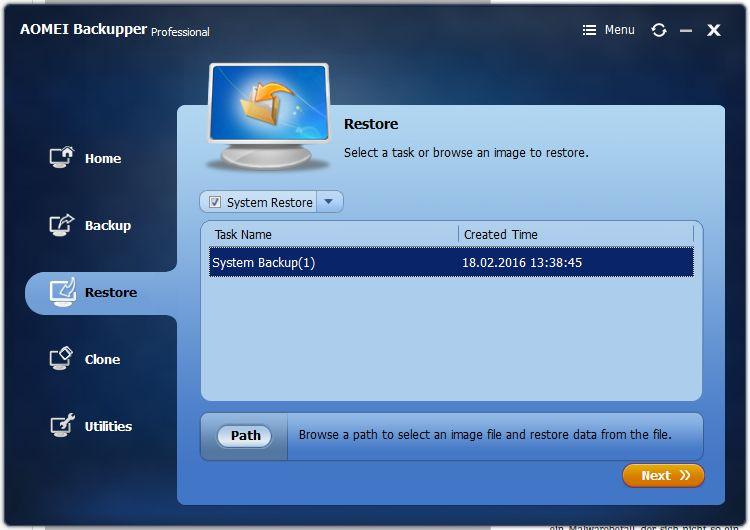 Прежде чем Backupper восстановит образ системы, программа сообщит о предстоящих операциях