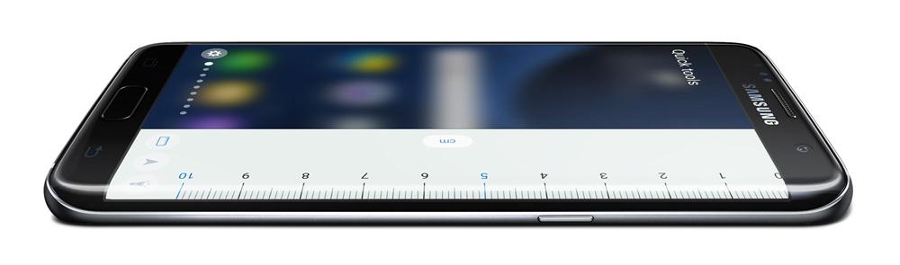 Samsung Galaxy S7 Edge: Программы и мини-приложения типа «Линейка» запускаются очень быстро.