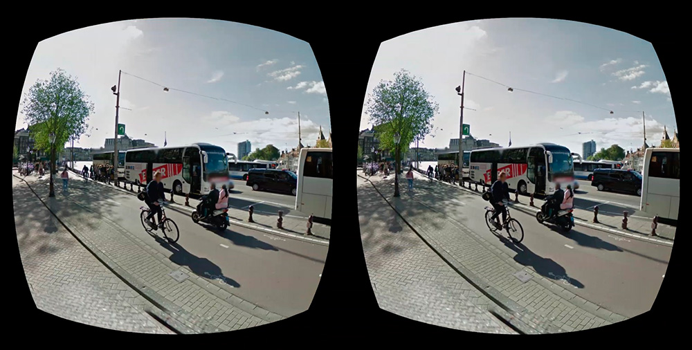 Google Street View: с помощью смартфона и VR-очков можно исследовать улицы самых разных городов.