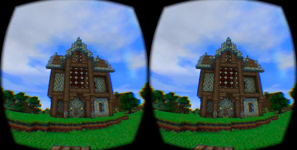 Minecraft: сегодня уже существует чит, который адаптирует Minecraft для очков виртуальной реальности.