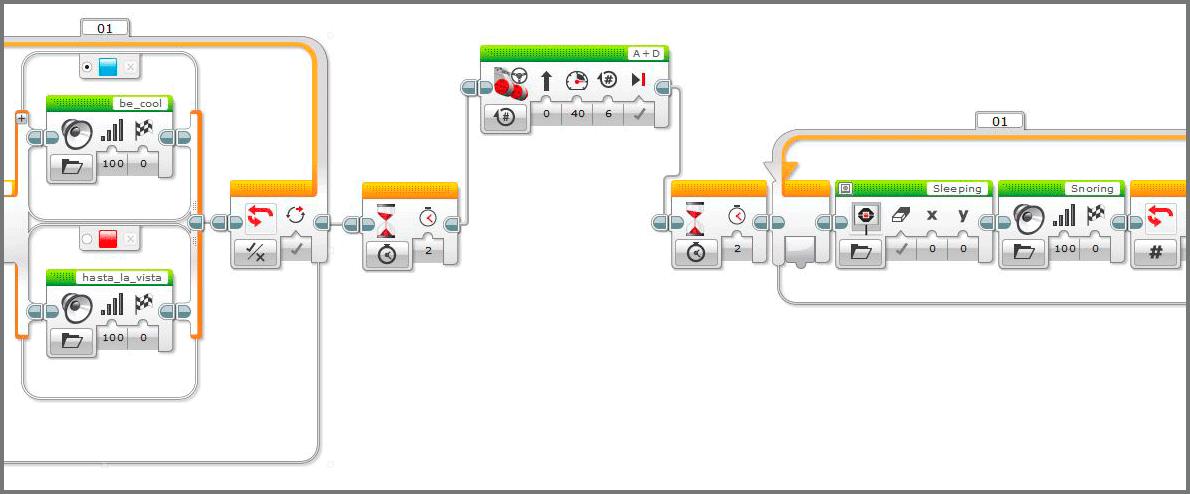 LEGO Education Roboter EV3: так выглядит программа EV3.