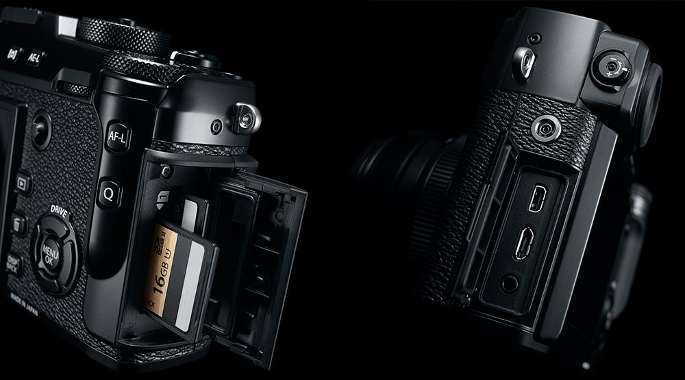 Fujifilm X-Pro2: Первый слот поддерживает карты памяти формата UHS II, второй — только UHS-I.