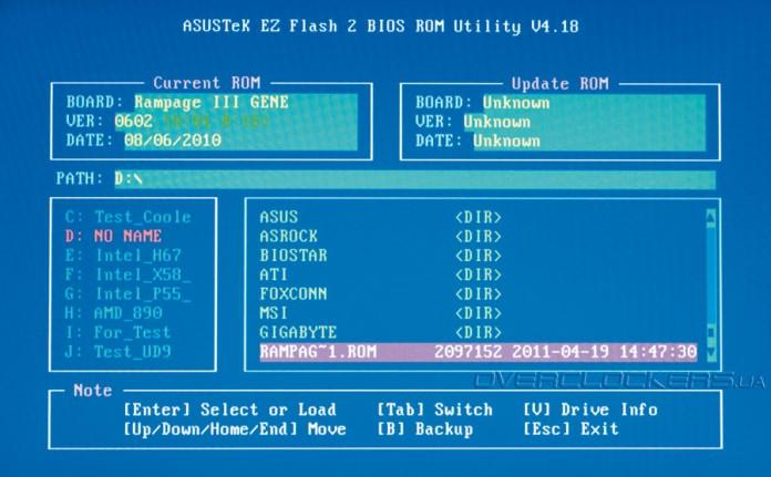 Обновляем BIOS на системных платах ASUS