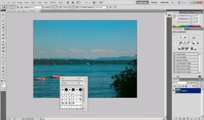 Клонируем объект в Photoshop с помощью инструмента «Копирующий штамп»